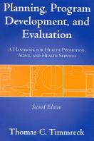 Planning  Program Development  and Evaluation PDF