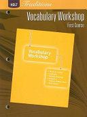 Vocabulary Workshop  Grade 7 First Course Book