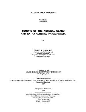 Tumors of the Adrenal Gland and Extra-adrenal Paraganglia