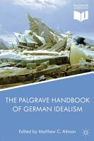 The Palgrave Handbook of German Idealism PDF