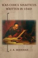Was Codex Sinaiticus Written In 1840  PDF