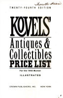 Kovels  Antiques and Collectibles Price List PDF