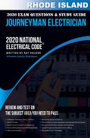 Rhode Island 2020 Journeyman Electrician Exam Questions and Study Guide PDF