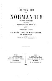 Coutumiers de Normandie: Volume1,Numéro2