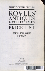 Kovels' Antiques & Collectibles Price List 2004
