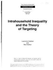 Intrahousehold Inequality and the Theory of Targeting