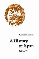 A History of Japan to 1334 PDF