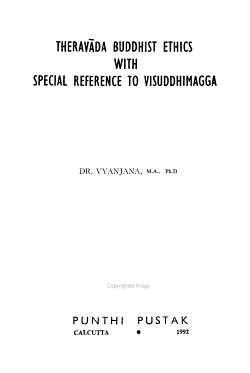 Therav  da Buddhist Ethics with Special Reference to Visuddhimagga PDF