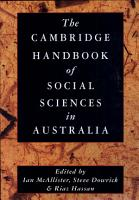 The Cambridge Handbook of Social Sciences in Australia PDF