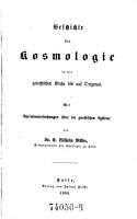 Geschichte der Kosmologie in der griechischen Kirche bis auf Origin s  Mit Specialuntersuchungen   ber die gnostischen Systeme PDF