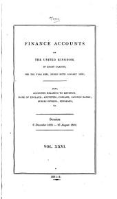 Finance Account of the United Kingdom in Eight Classes, for the Year 1851