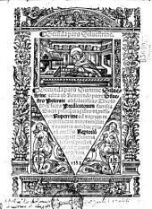 Secunda pars Siluestrine. Secunda pars Summe Siluestrine edita ab re[uere]ndo patre Siluestro Prierate...