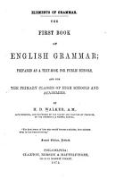 The First Book of English Grammar PDF