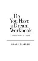 Do You Have a Dream Workbook PDF