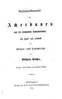 National  konomik des ackerbaues und der verwandten urproduktionen PDF