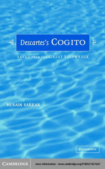 Descartes  Cogito PDF