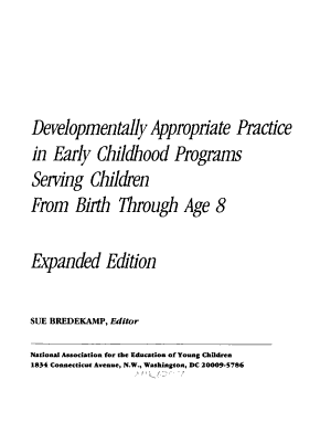Developmentally Appropriate Practice in Early Childhood Programs Serving Children from Birth Through Age 8 PDF