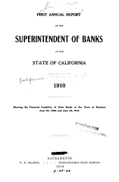 Annual Report of the Superintendent of Banks of the State of California