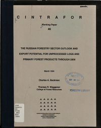 The Russian Forestry Sector Outlook and Export Potential for Unprocessed Logs and Primary Forest Products Through 2000
