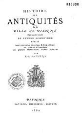 Histoire des antiquités de la ville de Vienne