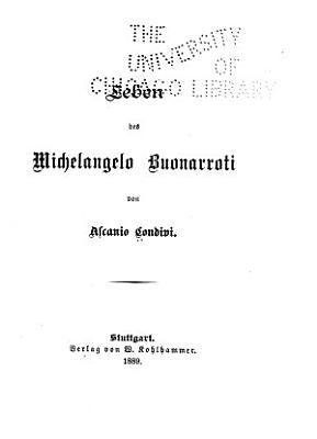 Leben des Michelangelo Buonarroti PDF