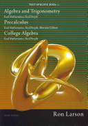 Text Specific DVDs for Algebra and Trigonometry  Real Mathematics  Real People  Precalculus  Real Mathematics  Real People  Alternate Edition  College Algebra  Real Mathematics  Real People PDF
