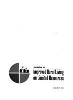 Workshop on Improved Rural Living on Limited Resources  June 24 27  1974 PDF