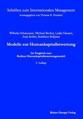 Modelle zur Humankapitalbewertung: Im Vergleich zum Berliner Humankapitalbewertungsmodell