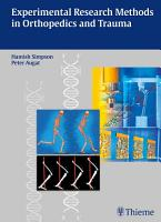 Experimental Research Methods in Orthopedics and Trauma PDF