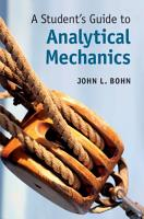 A Student s Guide to Analytical Mechanics PDF