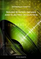 Introduction to Sound System Design and Electro Acoustics PDF