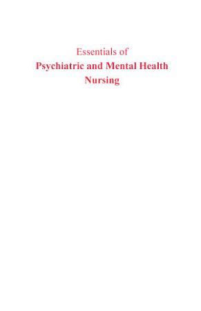 Essentials Of Psychiatry And Mental Health Nursing  3Rd Edition  PDF