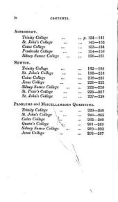 A Collection of Cambridge Mathematical Examination Papers: As Given at Several Colleges. Supplement