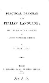 A practical grammar of the Italian language, by L. Mariotti