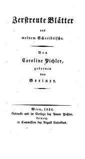 Saemmtliche Werke: Zerstreute Blätter. v.1