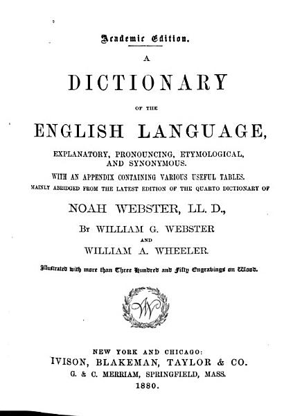 Download A Dictionary of the English Language   Explanatory  Pronouncing  Etymological  and Synonymous Book