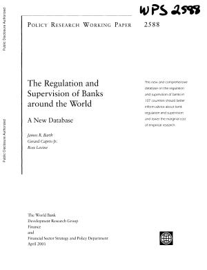 The Regulation and Supervision of Banks Around the World PDF