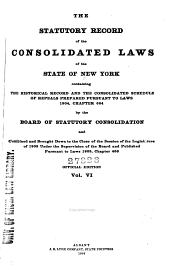 The Consolidated Laws of the State of New York: Volume 6