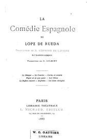 La comédie espagnole de Lope de Rueda