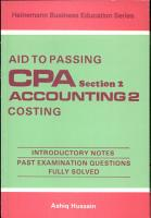 Aid to Passing C  P  A  Section 2  Accounting II  Costing PDF