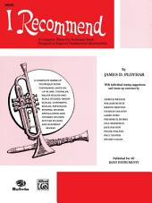 I Recommend: Oboe Part