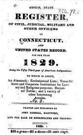 Annual State Register, of Civil, Judicial, Military and Other Officers in Connecticut, and United States Record