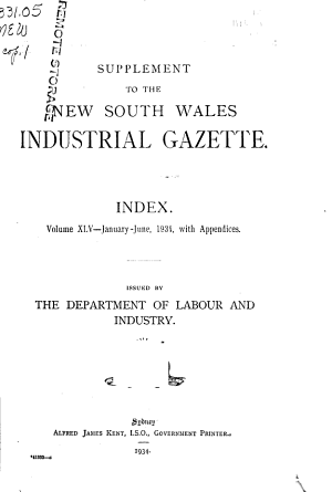 The New South Wales Industrial Gazette PDF