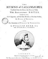 The Hymns of Callimachus PDF