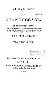 Nouvelles de Jean Boccace: Volume1