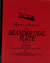 Update Material for the Neanderthal Flute Essay