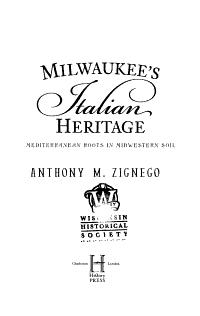 Milwaukee s Italian Heritage PDF