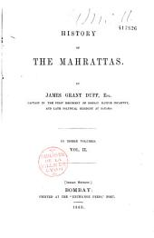 History of the Mahrattas