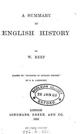 A summary of English history PDF