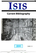 Isis Current Bibliography Of The History Of Science And Its Cultural Influences Book PDF